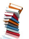 Books massive on white Stock Photo