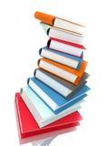 Books massive on white Royalty Free Stock Photos