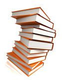 Books massive on white Royalty Free Stock Photography