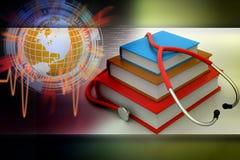 books medicinsk text stock illustrationer