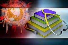 books medicinsk text Royaltyfri Foto