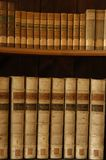 Books in a Midieval library. Old books Stock Photo