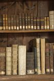 Books in a Midieval library. Old books Royalty Free Stock Image