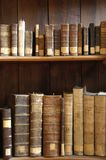 Books in a Midieval library. Old books Stock Image