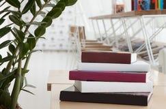 Books in modern restaurant Stock Photography