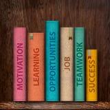 books motivationframgång till Royaltyfri Fotografi