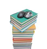 Books Mouse Computer Stock Image