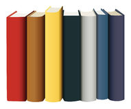 Books in multicolored covers Royalty Free Stock Photos