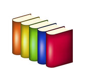 Books in multicolored covers Stock Images