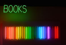 Books neon sign Royalty Free Stock Image