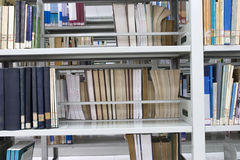 Books in a new library. Lots of books on shelf in a new library Stock Images