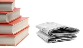 Books and Newspapers Royalty Free Stock Photos