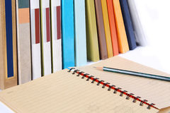 Books and notebook Royalty Free Stock Photography