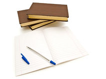 Books and notepad Royalty Free Stock Image