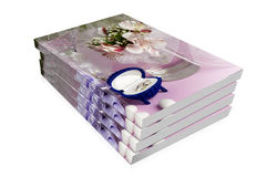 Books Of  Wedding Rings And Wedding Favors Stock Photos