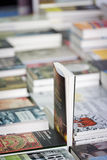 Books offered on a street book seller stand Royalty Free Stock Photography