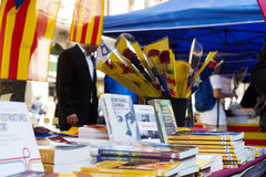 Books On Street Stalls In Barcelona Royalty Free Stock Photography