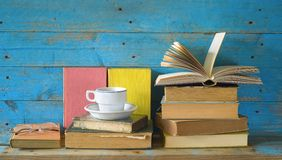 Books, one opened Royalty Free Stock Image