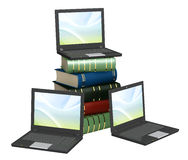 Books online. Conceptual image - library online. 3d render Stock Images