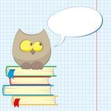 books owlen Fotografering för Bildbyråer
