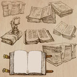 Books. Pack of an hand drawn vectors Royalty Free Stock Image