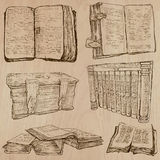 Books. Pack of an hand drawn vectors Royalty Free Stock Photography