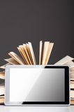 Books and pad Royalty Free Stock Image