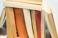 Books. And pages close-up photo useful for banners and web designers and also print Royalty Free Stock Photos