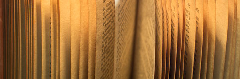 Books. And pages close-up photo useful for banners and web designers and also print Stock Photography