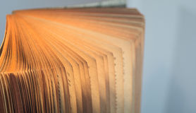 Books. And pages close-up photo useful for banners and web designers and also print Royalty Free Stock Image