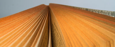 Books. And pages close-up photo useful for banners and web designers and also print Stock Image