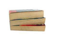 books paperback tre royaltyfri foto