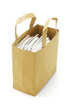 Books in paperbag Royalty Free Stock Photography