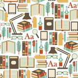 Books pattern Royalty Free Stock Photo