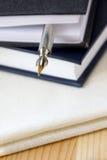 Books and Pen Stock Photos