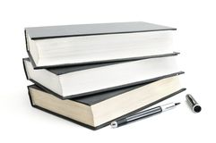 Books and pen Stock Photography