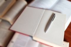 Books and the pen Royalty Free Stock Photo