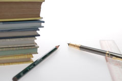 Books and pen Royalty Free Stock Photography