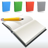 Books and Pencil Stock Images