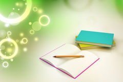 Books and pencil, education concept Royalty Free Stock Images