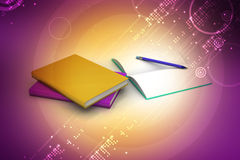 Books and pencil, education concept Royalty Free Stock Photo