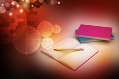 Books and pencil, education concept Royalty Free Stock Photography