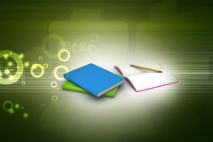 Books and pencil, education concept Stock Images