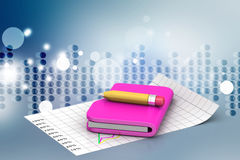 Books and pencil, education concept Stock Photos