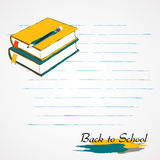 Books and pencil Stock Photo