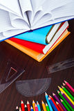 Books and pencils for back to school Royalty Free Stock Photo