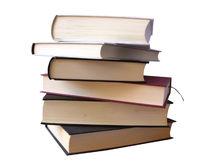 Books pile (clipping path) Royalty Free Stock Photography