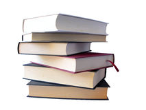 Books pile (clipping path) Stock Photo