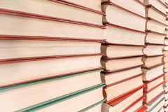 Books pile diminishing perspective view royalty free stock images
