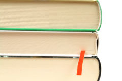 Books pile on white Stock Image